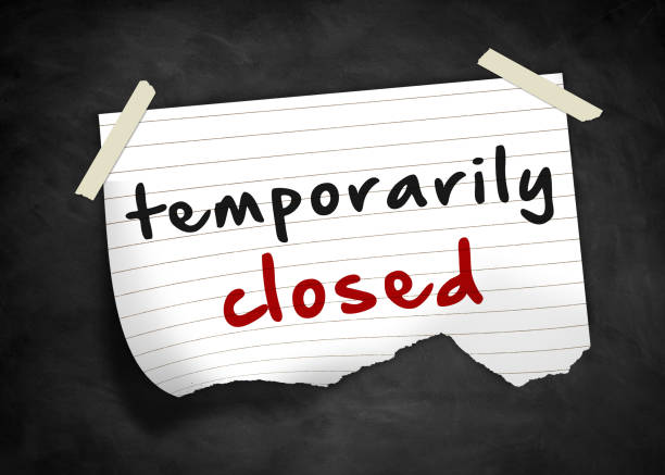temporarily closed - closed stock photos and pictures