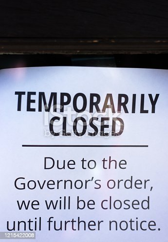 """""""Temporarily Closed"""" Sign"""