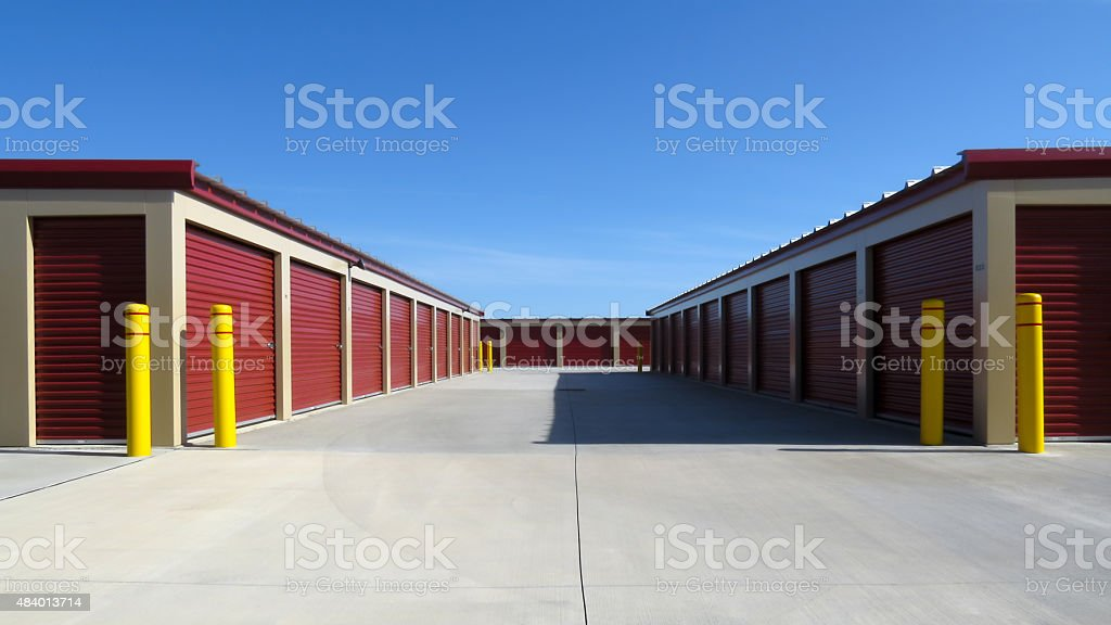 Temporary Storage Units stock photo