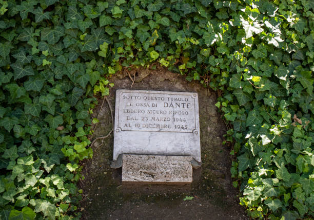 "Temporary tomb of the poet Dante Alighieri in Ravenna. Inscription: ""This was the secure grave of the bones of Dante between march 1944 and december 1945. Europe."