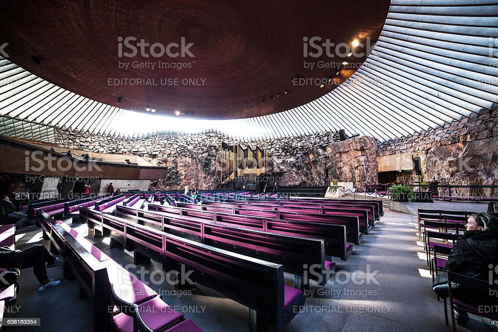Temppeliaukio Church stock photo