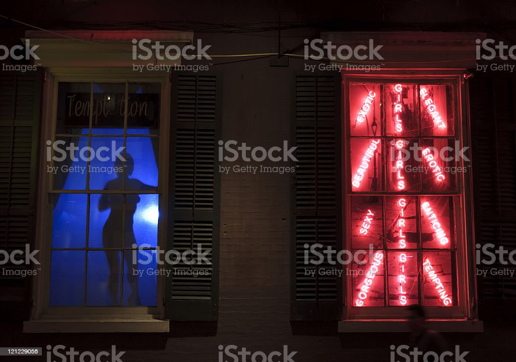 Temptation on Bourbon Street stock photo