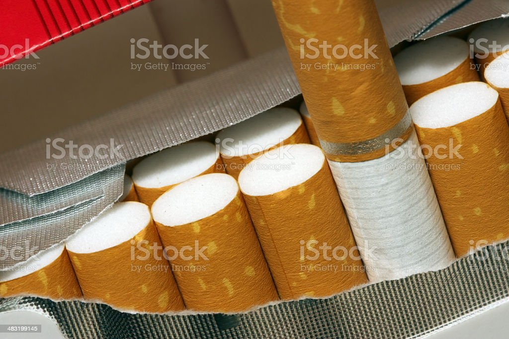 Temptation ( Cigarettes in Packet ) royalty-free stock photo