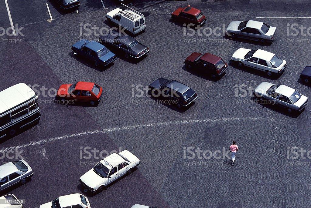Tempting Fate in Paris Traffic stock photo