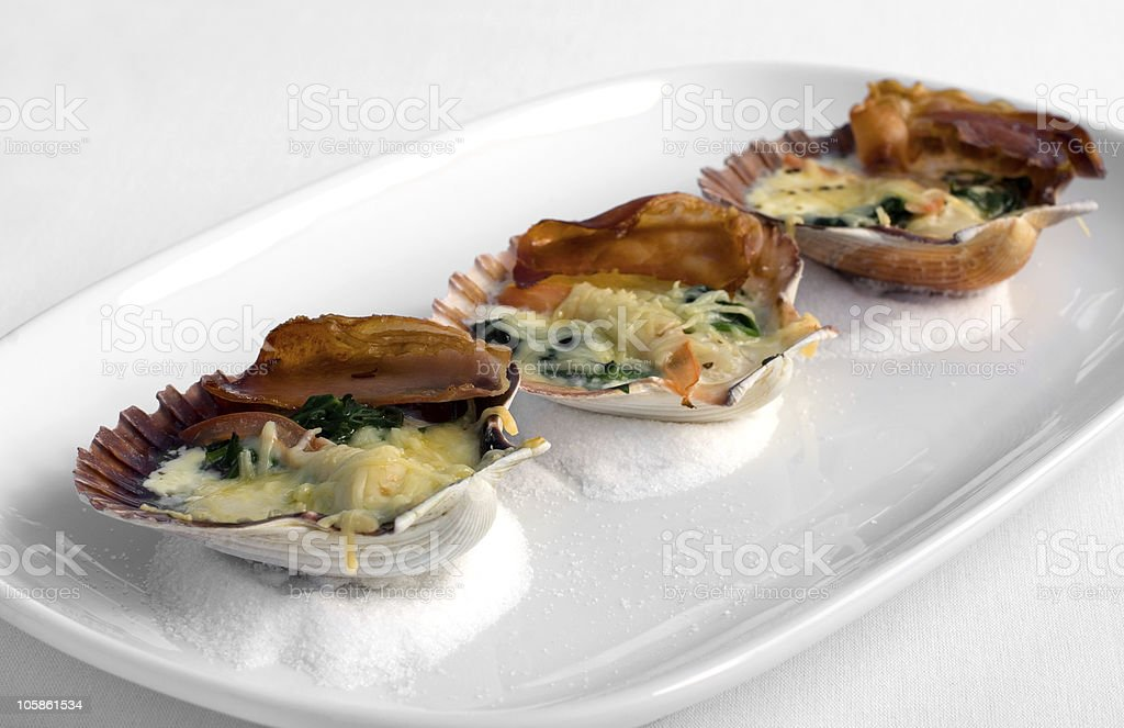 Tempting Seafood Entree royalty-free stock photo