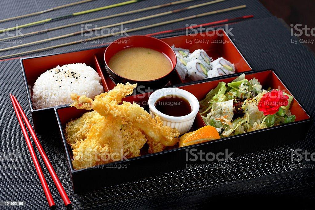 Tempura Bento stock photo