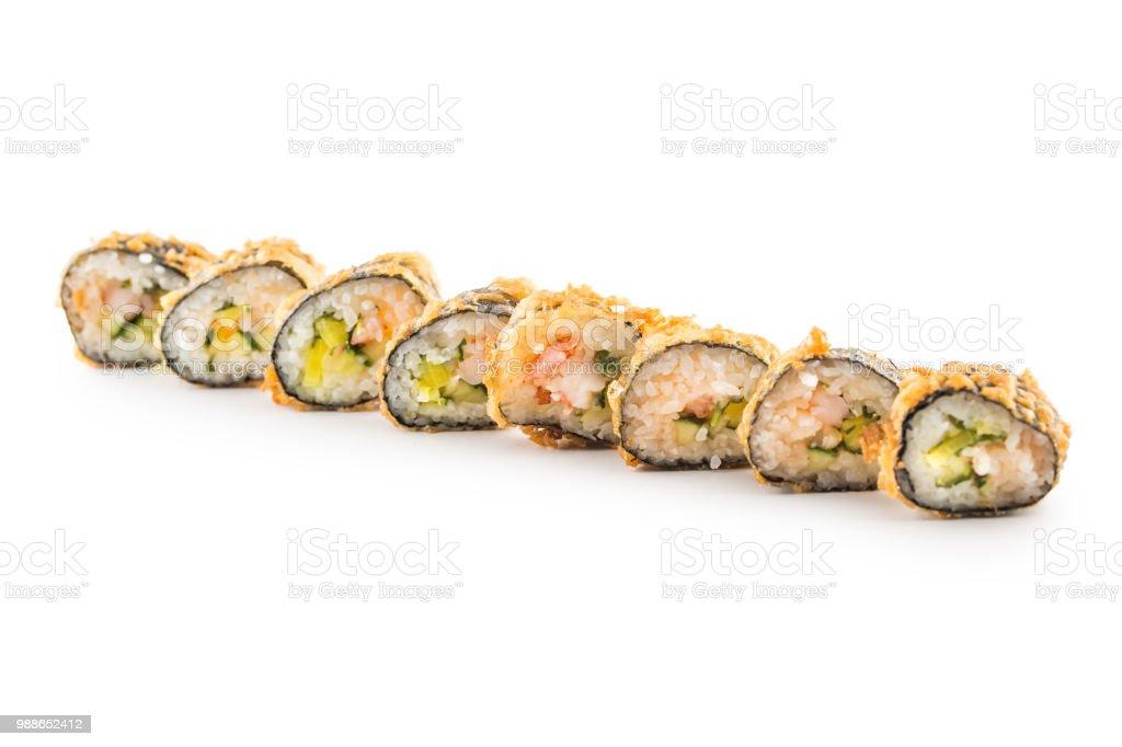Tempura Hot Fried Sushi Maki Japanese Traditional Food