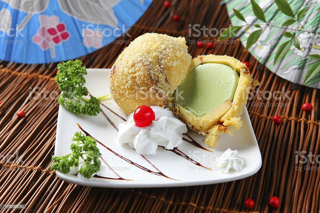 Tempura Ice cream stock photo