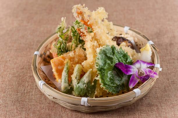 tempura; japanese food - tempura imagens e fotografias de stock