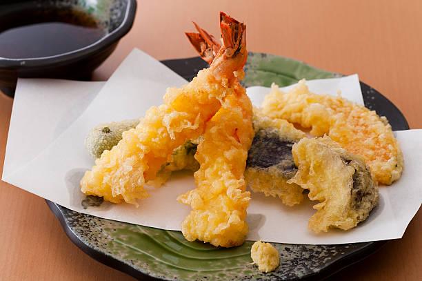 tempura, japanese traditional food - tempura imagens e fotografias de stock