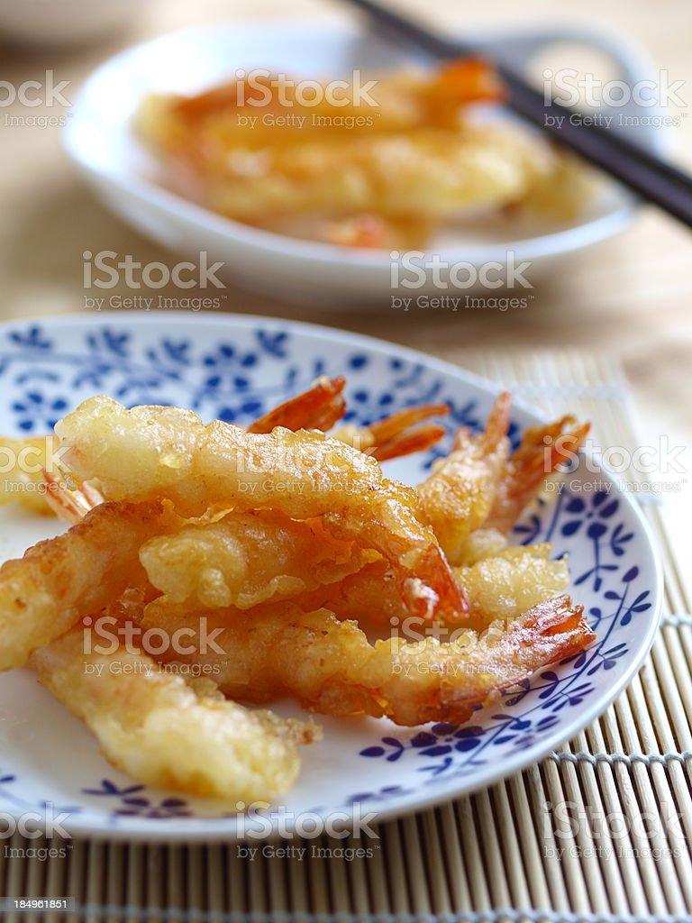 tempura prawns stock photo
