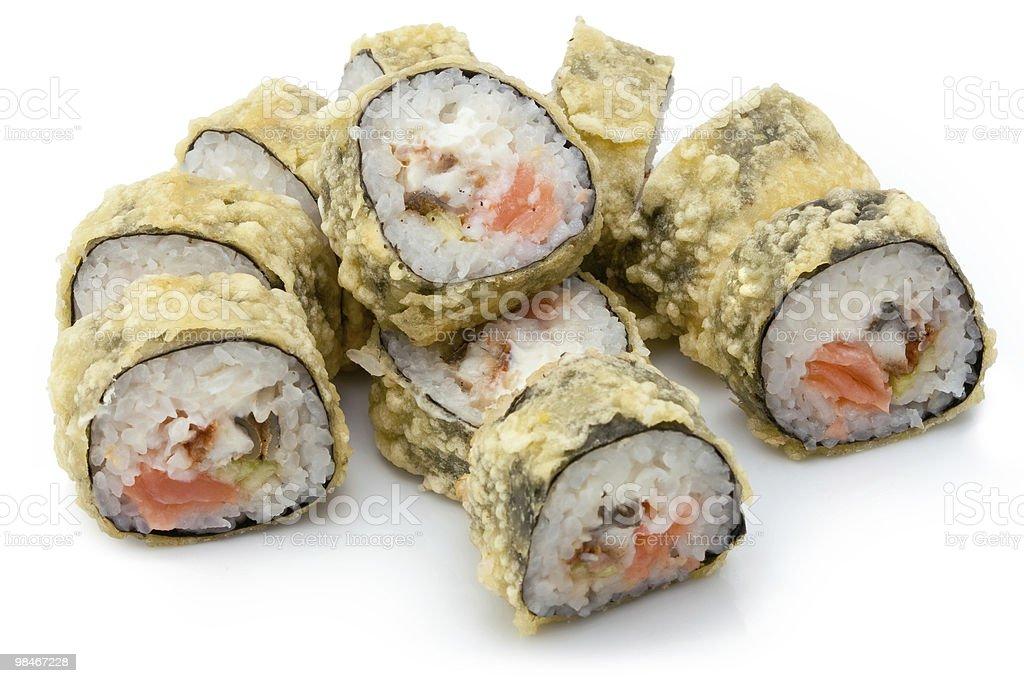 Tempura sushi royalty-free stock photo