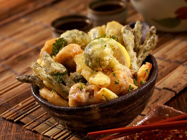 tempura produtos hortícolas - tempura imagens e fotografias de stock