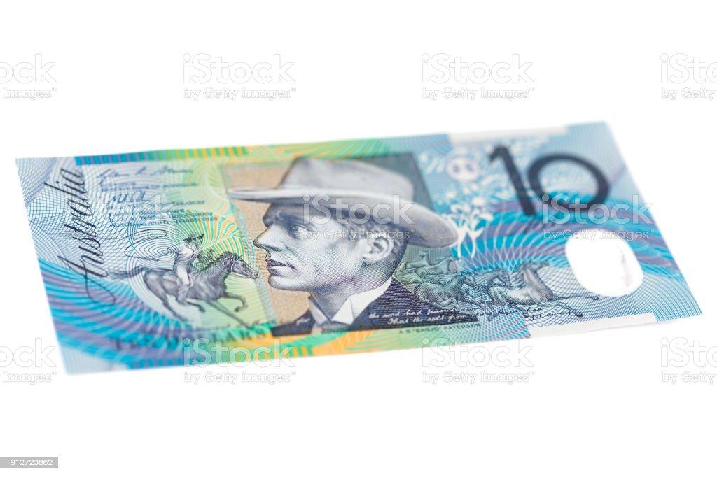 Ten Australian Dollar Bill - Front stock photo