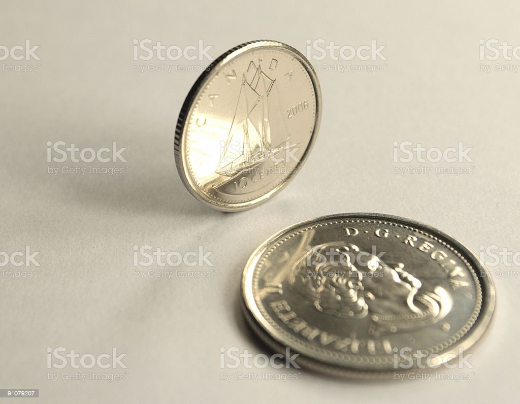 Ten cents royalty-free stock photo