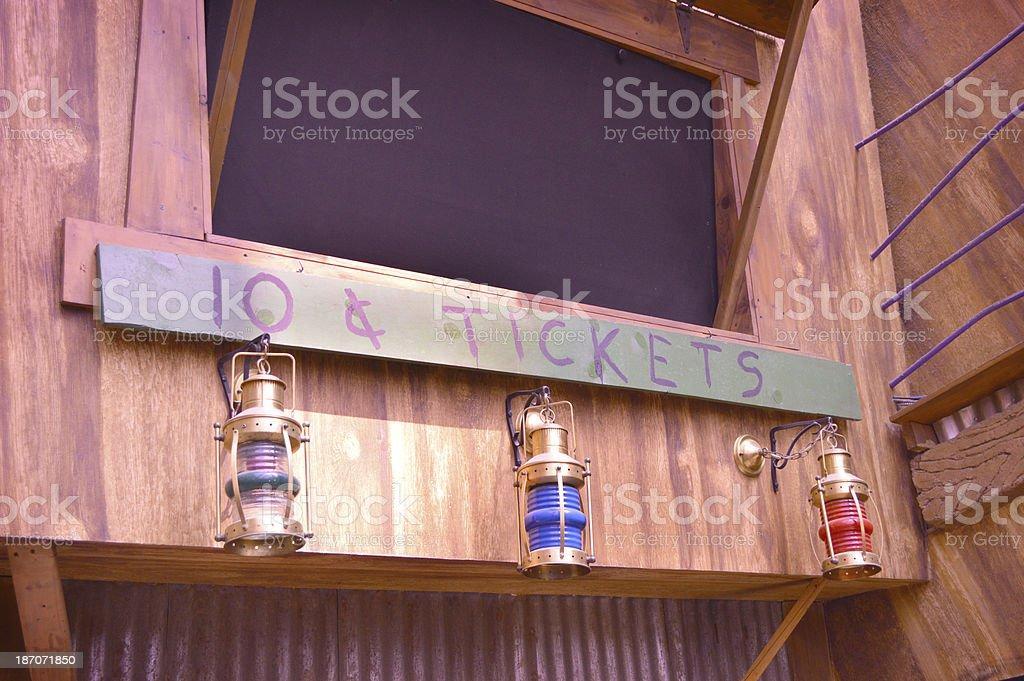Ten Cents Tickets royalty-free stock photo