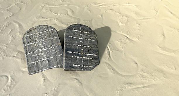 Ten Commandments In The Desert stock photo