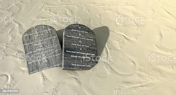 Dez Mandamentos Que Estão No Deserto Foto de Stock