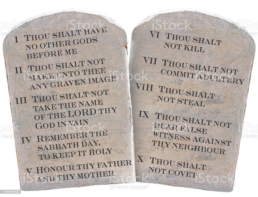 Ten Commandments (KJV) royalty-free stock photo