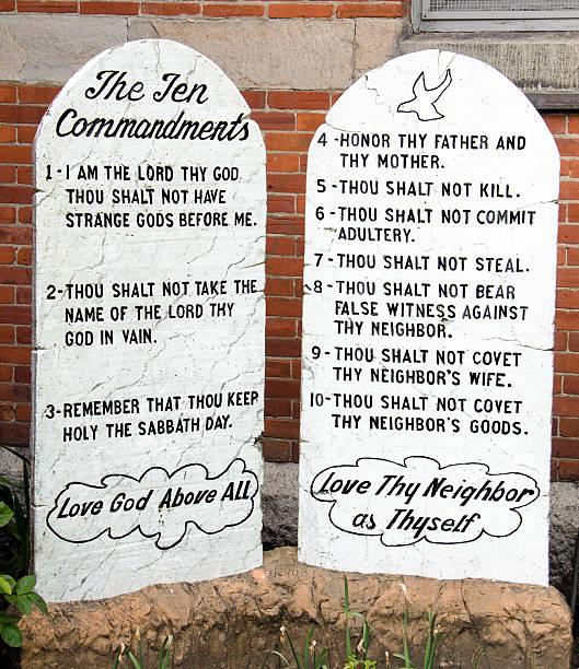 Ten Commandments stock photo