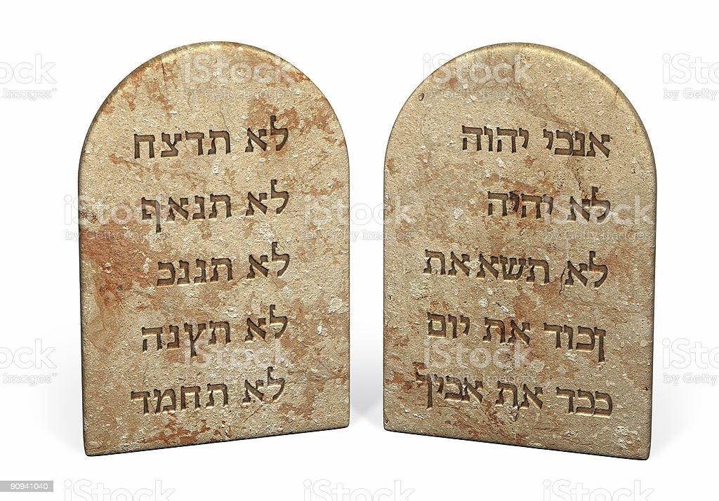 Ten commandments  Bible Stock Photo