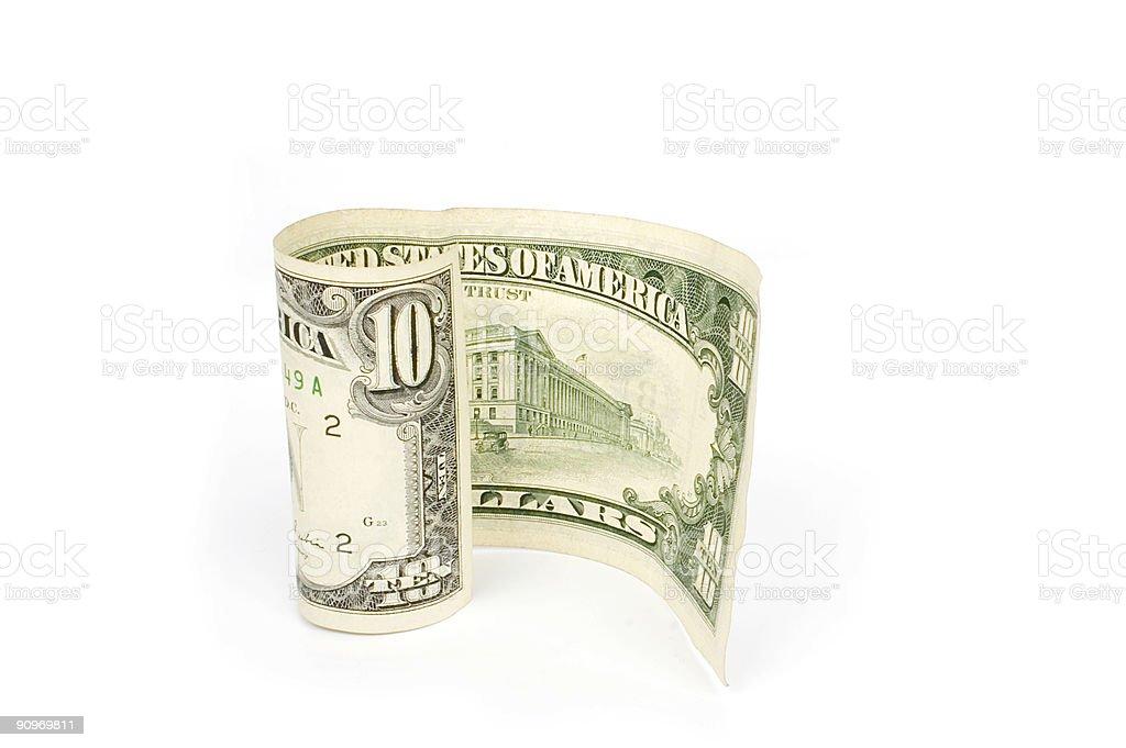 Ten dollar stock photo