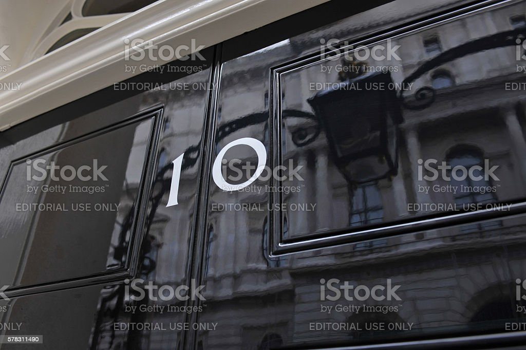Ten Downing Street stock photo