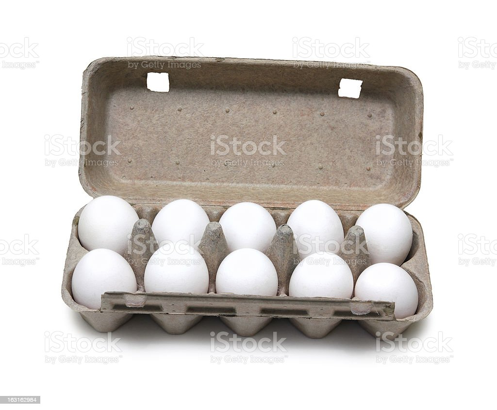 ten eggs in pack royalty-free stock photo