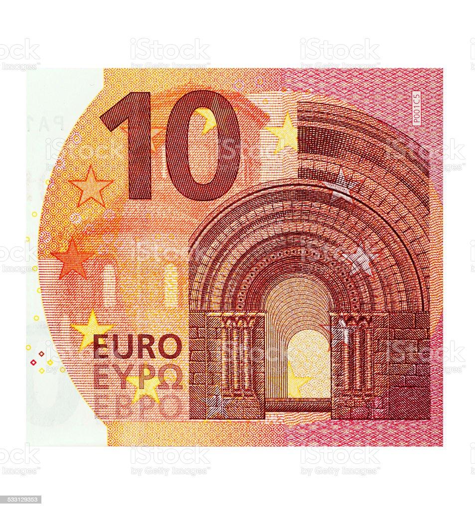 Ten Euro Banknote stock photo