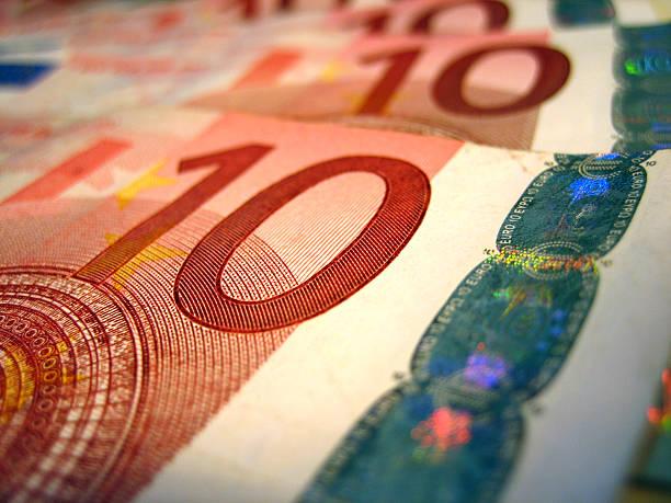 Zehn Euro-Banknoten – Foto