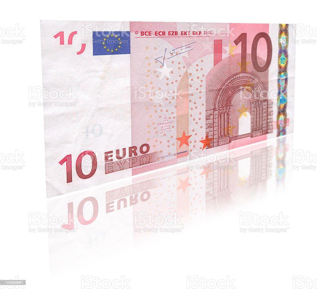 Zehn Euro mit Reflexion – Foto