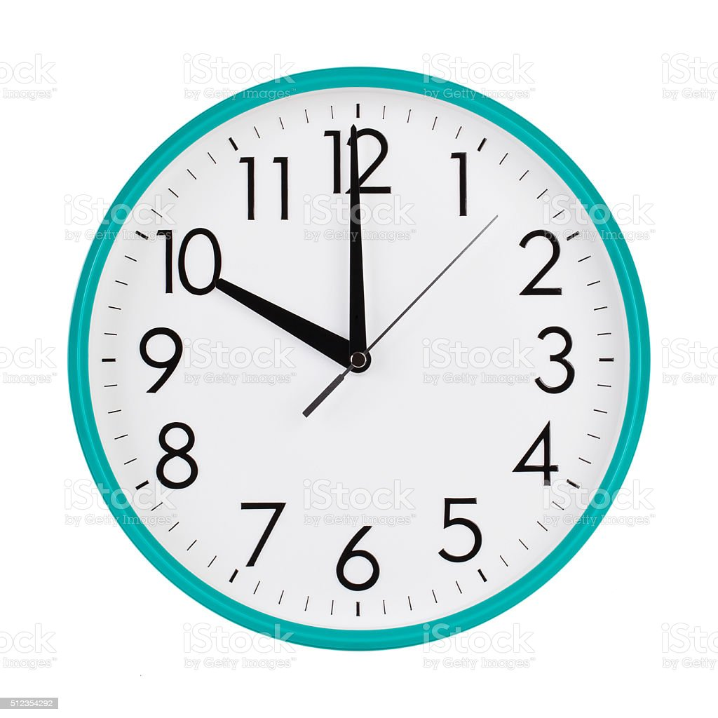 Ten hours on a round clock face