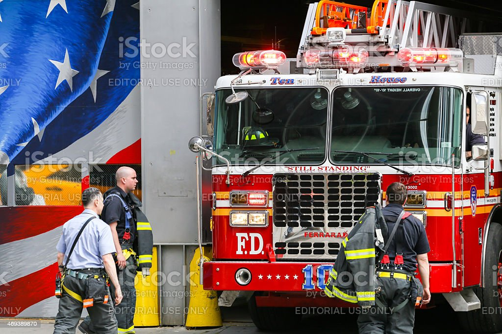 Ten house fire station in NY stock photo