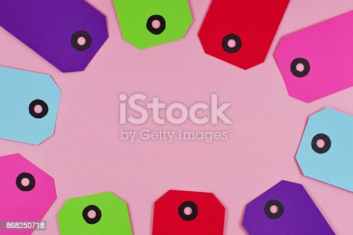 istock ten labels the different colors forming a frame 868250718