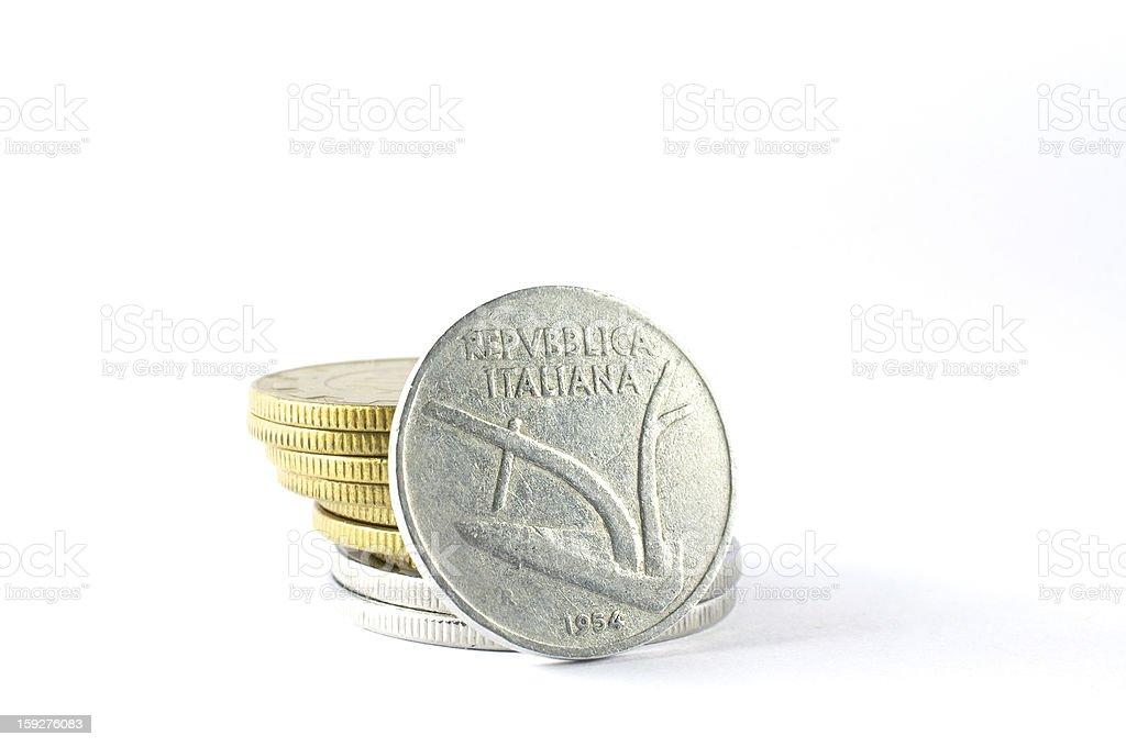 ten lire coin of 1954 the Italian Republic royalty-free stock photo