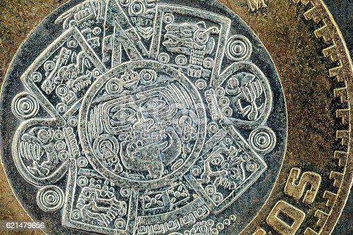 istock Ten mexican peso coin 621479656