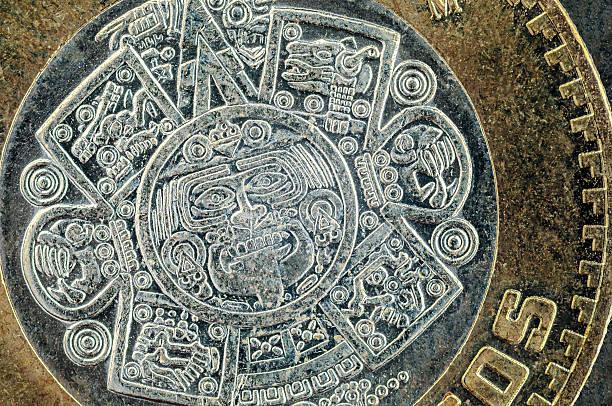 Ten mexican peso coin stock photo