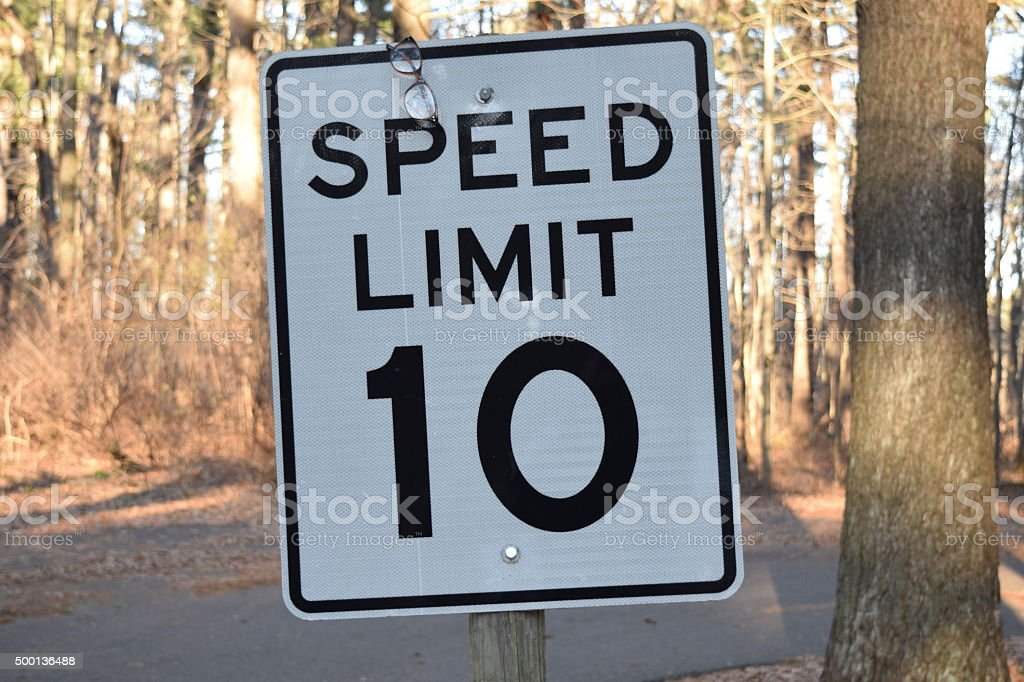 Ten Miles Per Hour Speed Limit Sign 10 Mph Stock Photo & More ...
