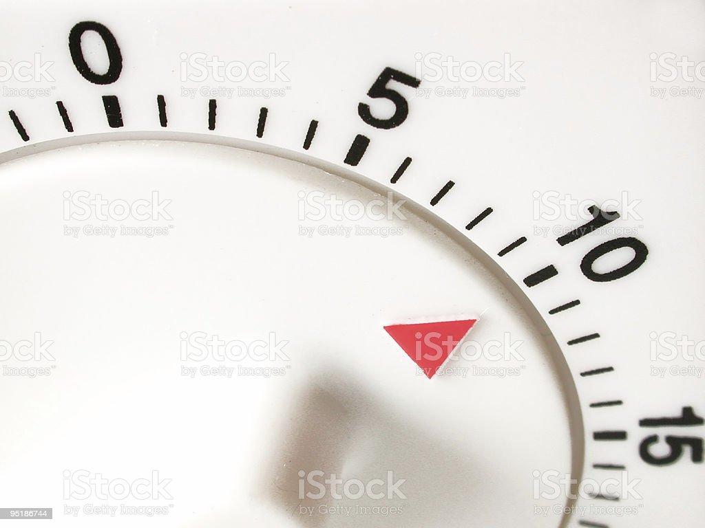 ten minutes on timer royalty-free stock photo