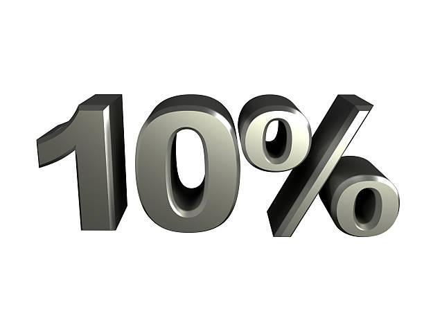 Icône de 10 pour cent - Photo