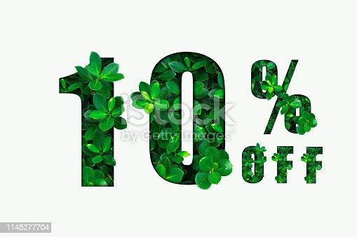 istock Ten percent off. Discount 10%. 1145277704