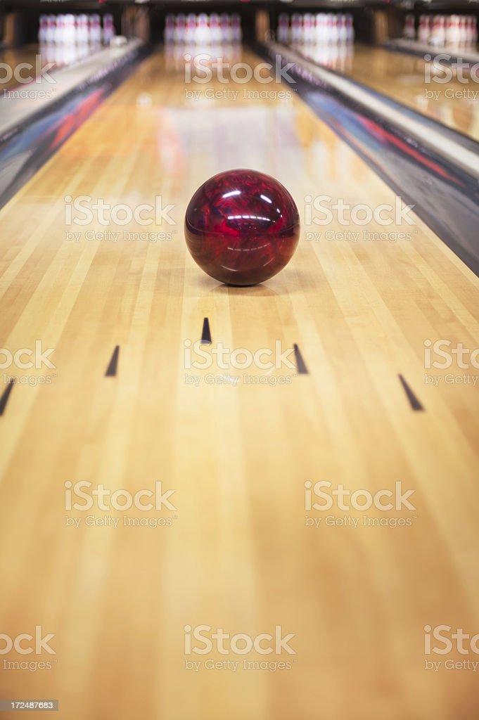 Ten pin bowling ball stock photo