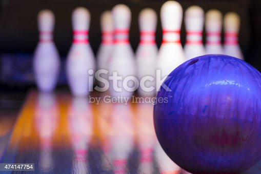Ten Pin Bowling - Focus on ball