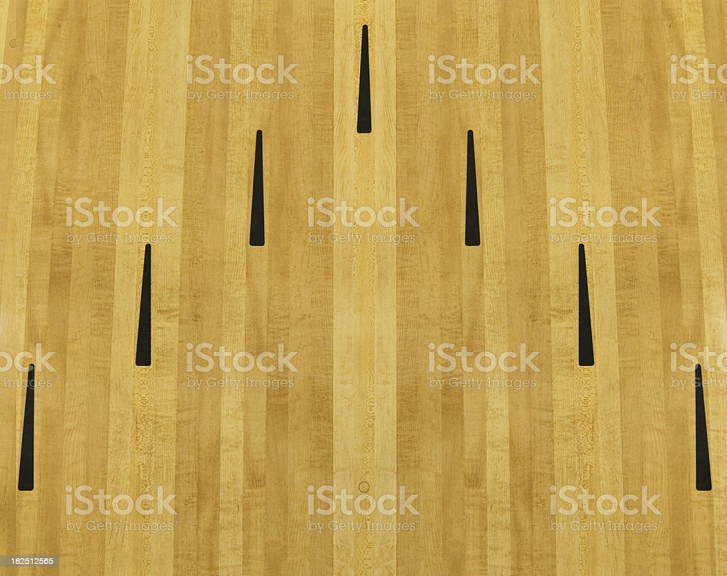 Ten Pin bowling lane stock photo