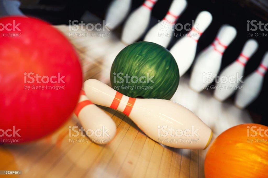 Ten Pin Bowling royalty-free stock photo