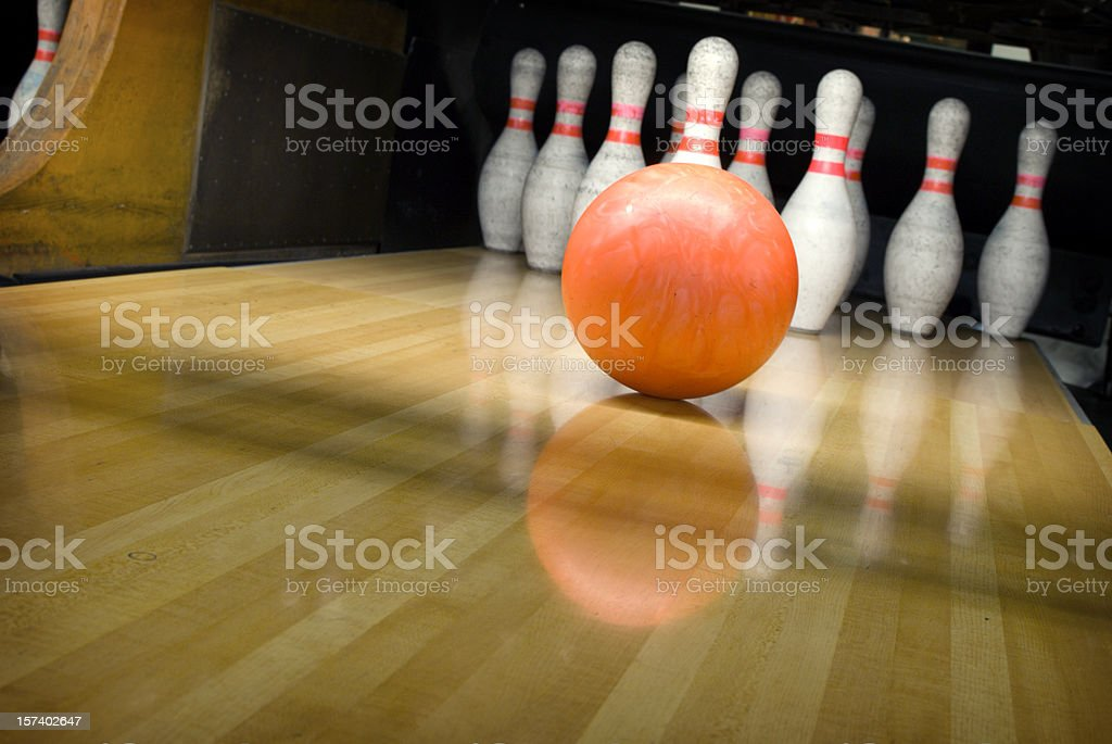 Ten Pin Bowling stock photo