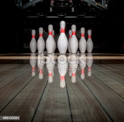 Ten pin bowling on the alley - leisure games