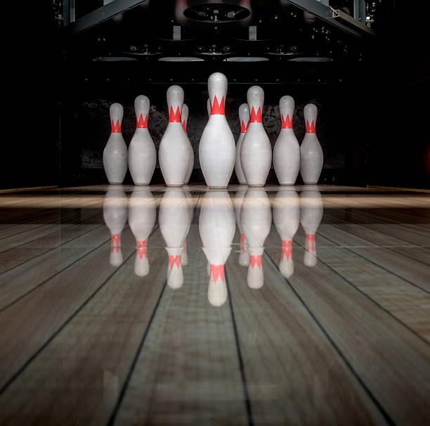 Ten pin bowling stock photo