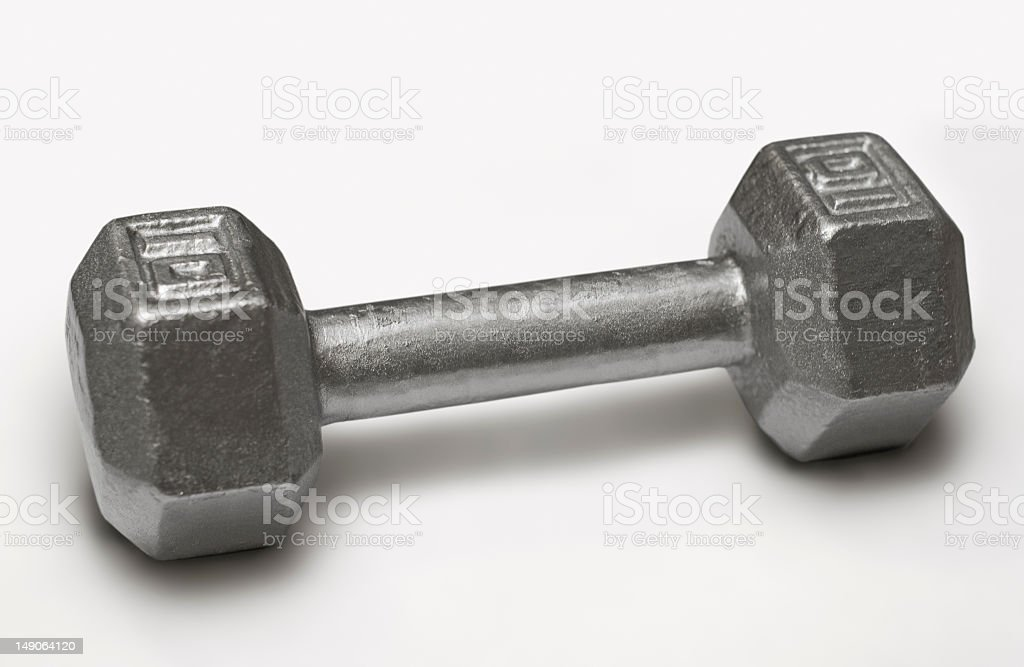 ten pound dumbbell weight stock photo