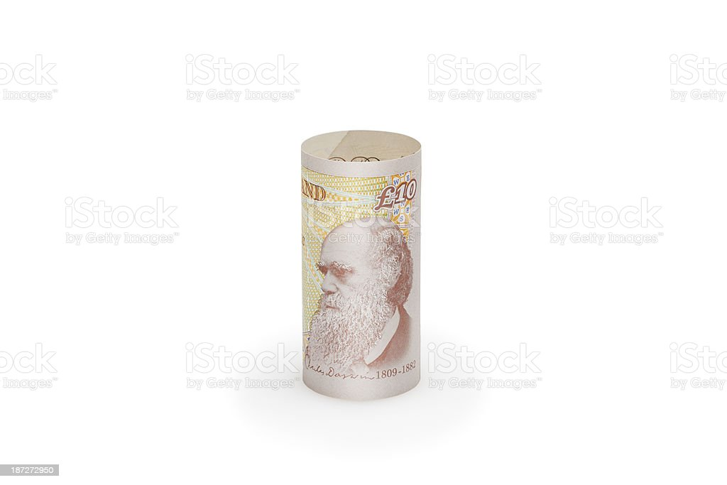 Ten Pound Notes stock photo